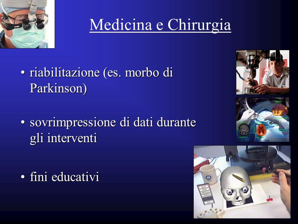 Medicina e Chirurgia riabilitazione (es. morbo di Parkinson)riabilitazione (es. morbo di Parkinson) fini educativifini educativi sovrimpressione di da