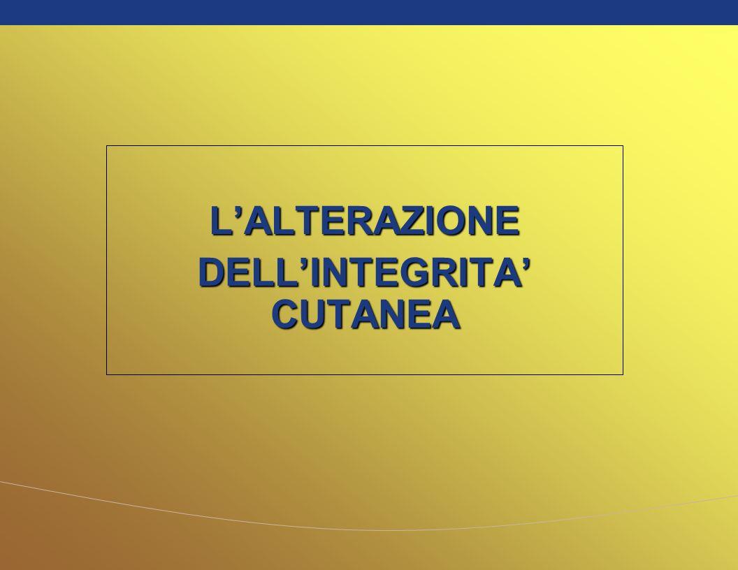 LALTERAZIONE DELLINTEGRITA CUTANEA