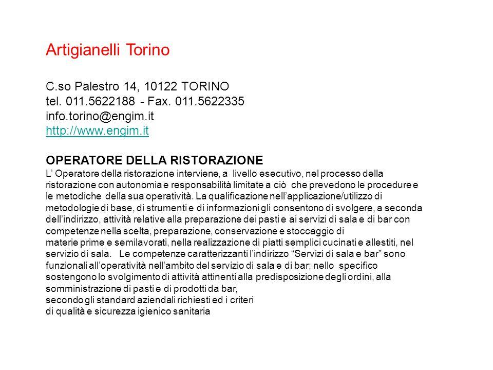 Artigianelli Torino C.so Palestro 14, 10122 TORINO tel.