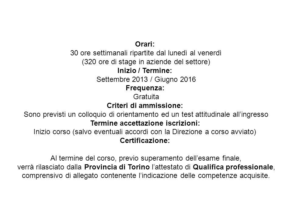 Operatore Elettrico Destinatari: allievi/e che hanno conseguito la Licenza Media.