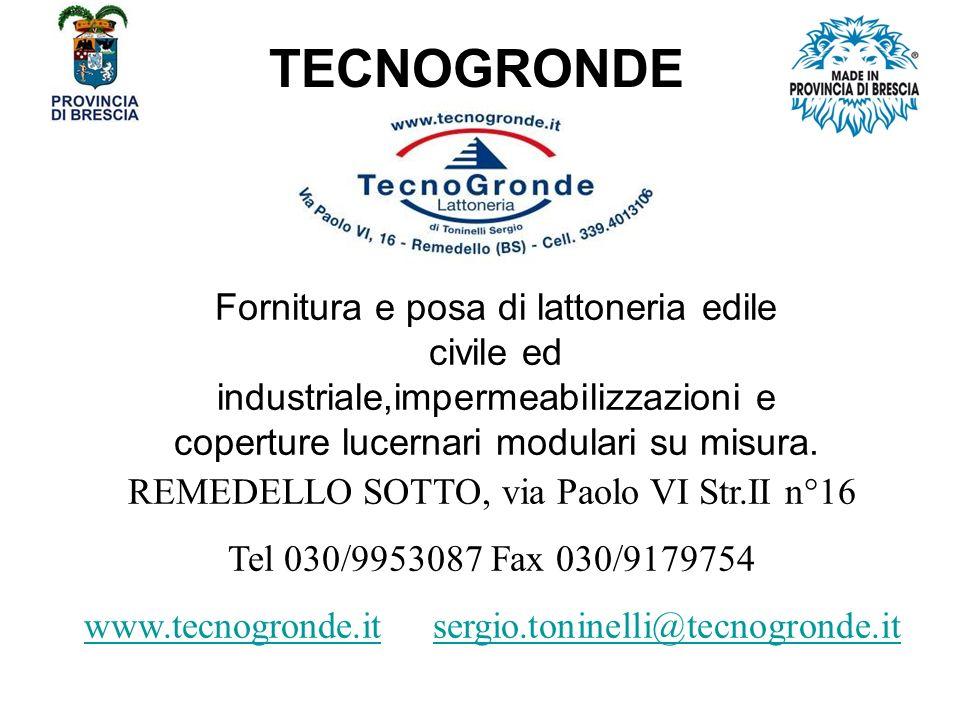 TECNOGRONDE Fornitura e posa di lattoneria edile civile ed industriale,impermeabilizzazioni e coperture lucernari modulari su misura.