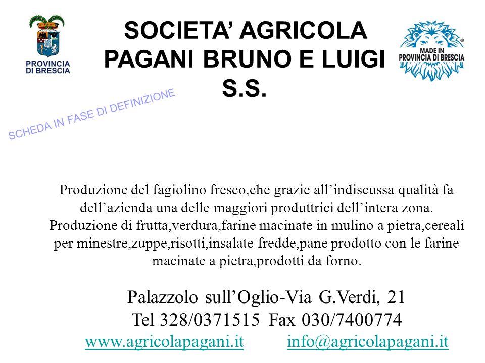 SOCIETA AGRICOLA PAGANI BRUNO E LUIGI S.S.