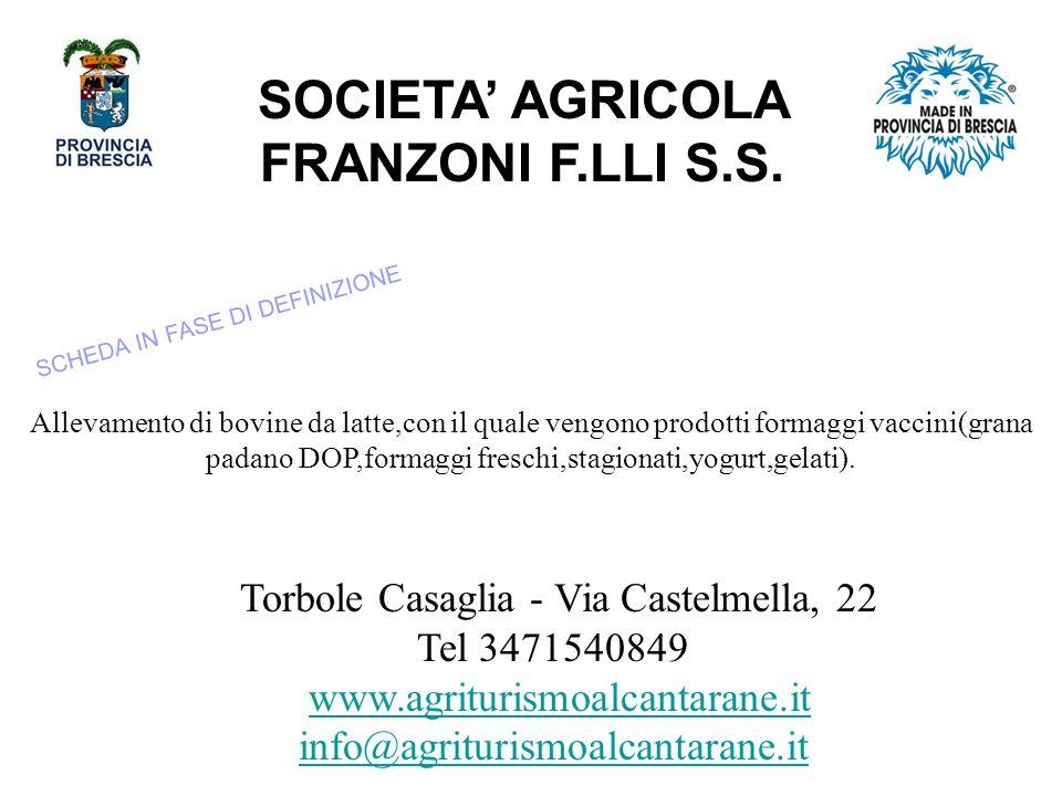 SOCIETA AGRICOLA FRANZONI F.LLI S.S.