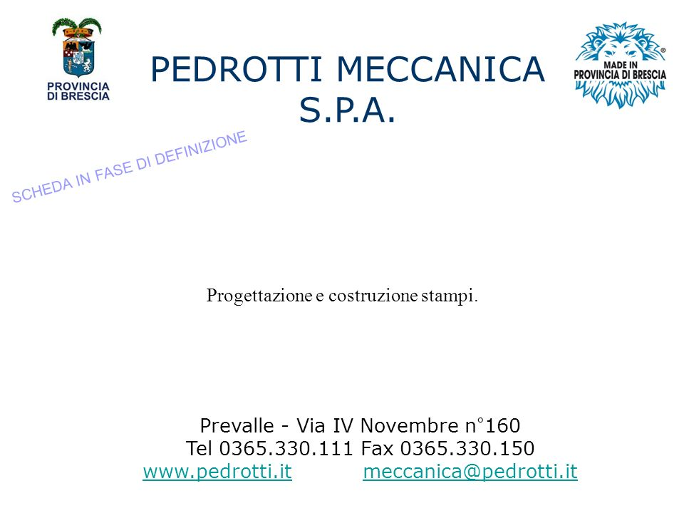 PEDROTTI MECCANICA S.P.A.