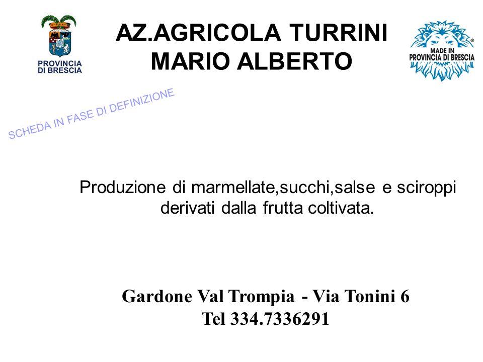 AZ.AGRICOLA TURRINI MARIO ALBERTO Produzione di marmellate,succhi,salse e sciroppi derivati dalla frutta coltivata.