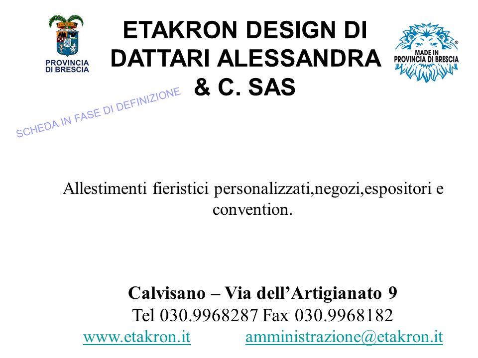 ETAKRON DESIGN DI DATTARI ALESSANDRA & C.