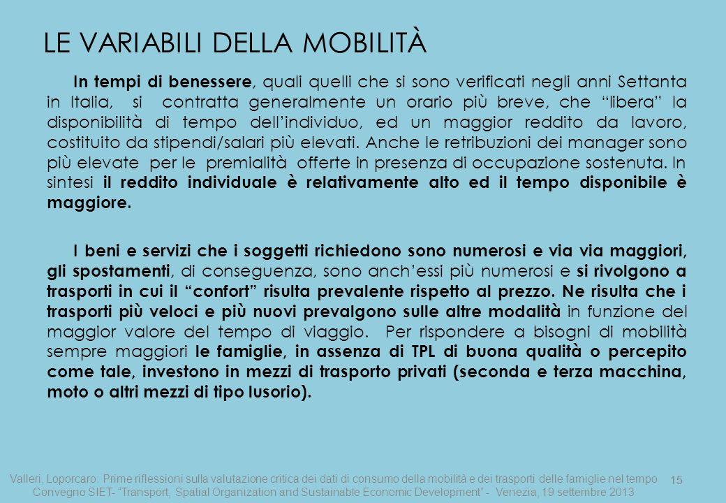 15 In tempi di benessere, quali quelli che si sono verificati negli anni Settanta in Italia, si contratta generalmente un orario più breve, che libera