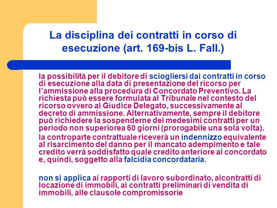 La disciplina dei contratti in corso di esecuzione (art.