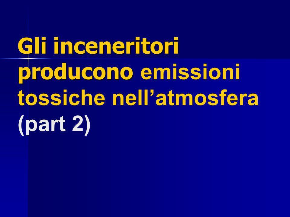 Gli inceneritori producono Gli inceneritori producono emissioni tossiche nellatmosfera (part 2)