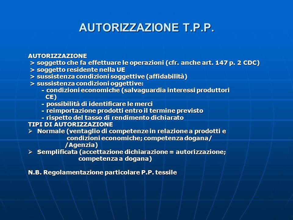 AUTORIZZAZIONE T.P.P. AUTORIZZAZIONE > soggetto che fa effettuare le operazioni (cfr. anche art. 147 p. 2 CDC) > soggetto che fa effettuare le operazi