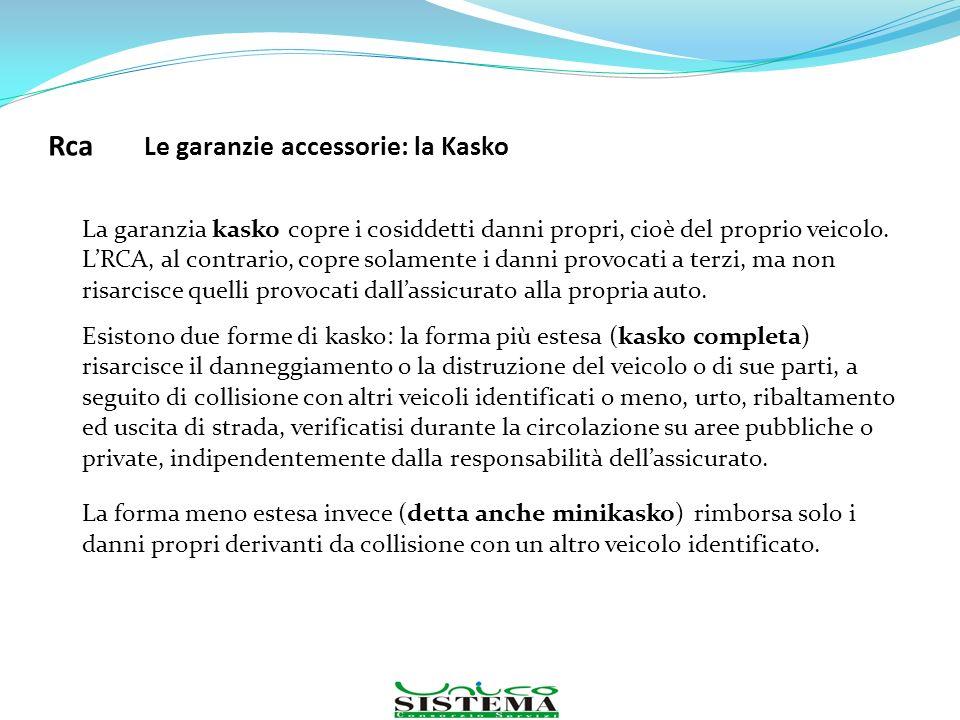 La garanzia kasko copre i cosiddetti danni propri, cioè del proprio veicolo. LRCA, al contrario, copre solamente i danni provocati a terzi, ma non ris