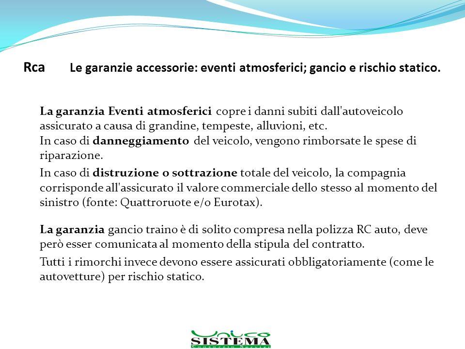 La garanzia Eventi atmosferici copre i danni subiti dall'autoveicolo assicurato a causa di grandine, tempeste, alluvioni, etc. In caso di danneggiamen