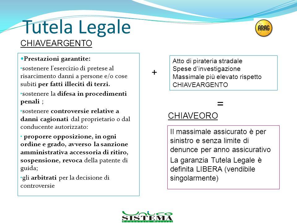 Tutela Legale Prestazioni garantite: sostenere l'esercizio di pretese al risarcimento danni a persone e/o cose subiti per fatti illeciti di terzi. sos