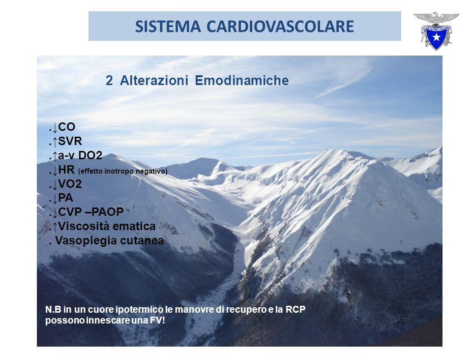 SISTEMA CARDIOVASCOLARE 2 Alterazioni Emodinamiche.CO.SVR.a-v DO2.HR (effetto inotropo negativo).VO2.PA.CVP –PAOP.Viscosità ematica.