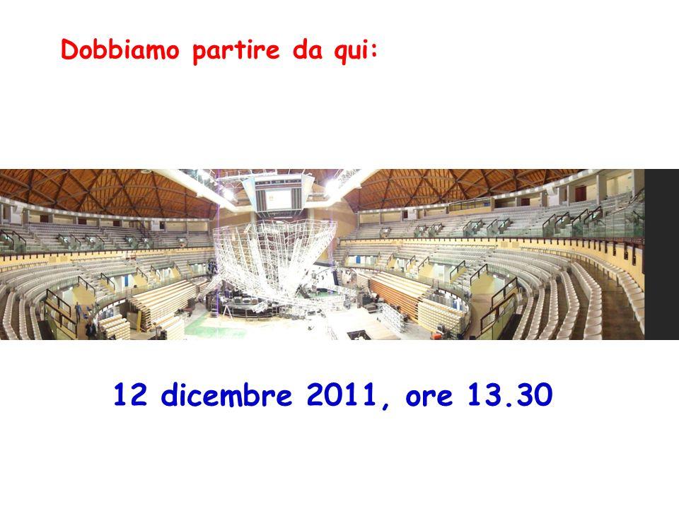 Dobbiamo partire da qui: 12 dicembre 2011, ore 13.30