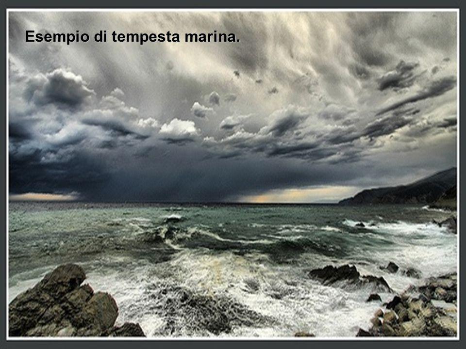 Esempio di tempesta marina.