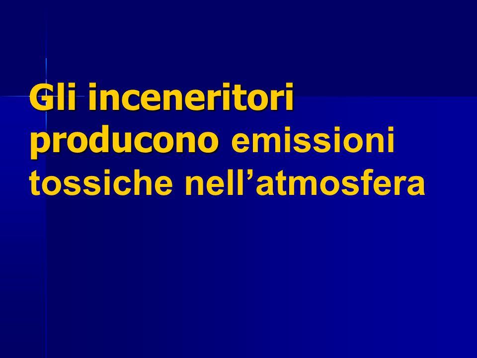 Gli inceneritori producono Gli inceneritori producono emissioni tossiche nellatmosfera