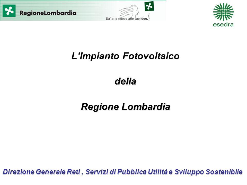 Direzione Generale Reti, Servizi di Pubblica Utilità e Sviluppo Sostenibile LImpianto Fotovoltaicodella Regione Lombardia