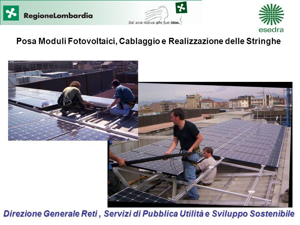 Direzione Generale Reti, Servizi di Pubblica Utilità e Sviluppo Sostenibile Posa Moduli Fotovoltaici, Cablaggio e Realizzazione delle Stringhe