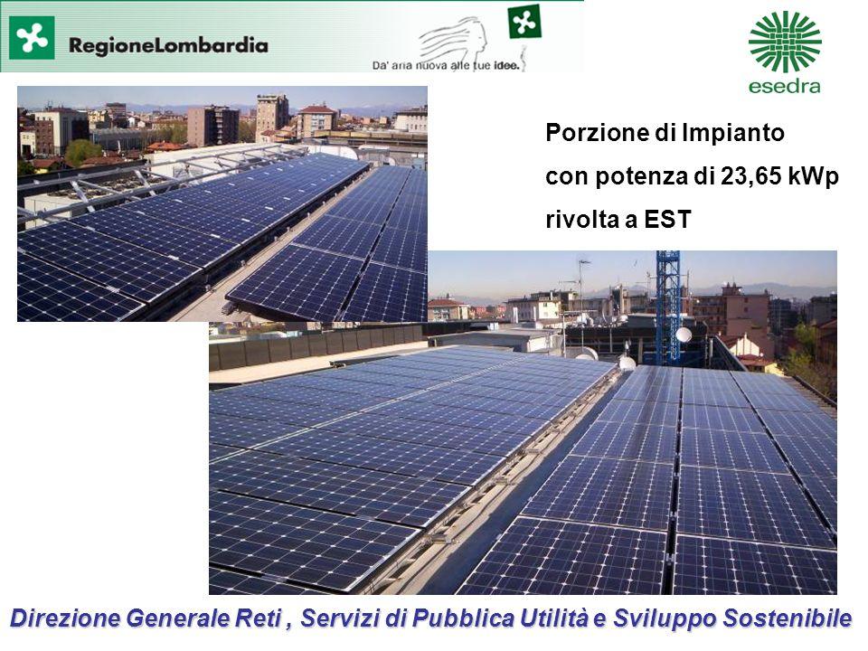 Direzione Generale Reti, Servizi di Pubblica Utilità e Sviluppo Sostenibile Porzione di Impianto con potenza di 23,65 kWp rivolta a EST
