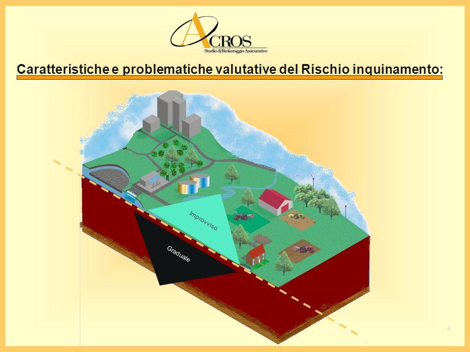 Caratteristiche e problematiche valutative del Rischio inquinamento: I m p r o v v i s o G r a d u a l e 4