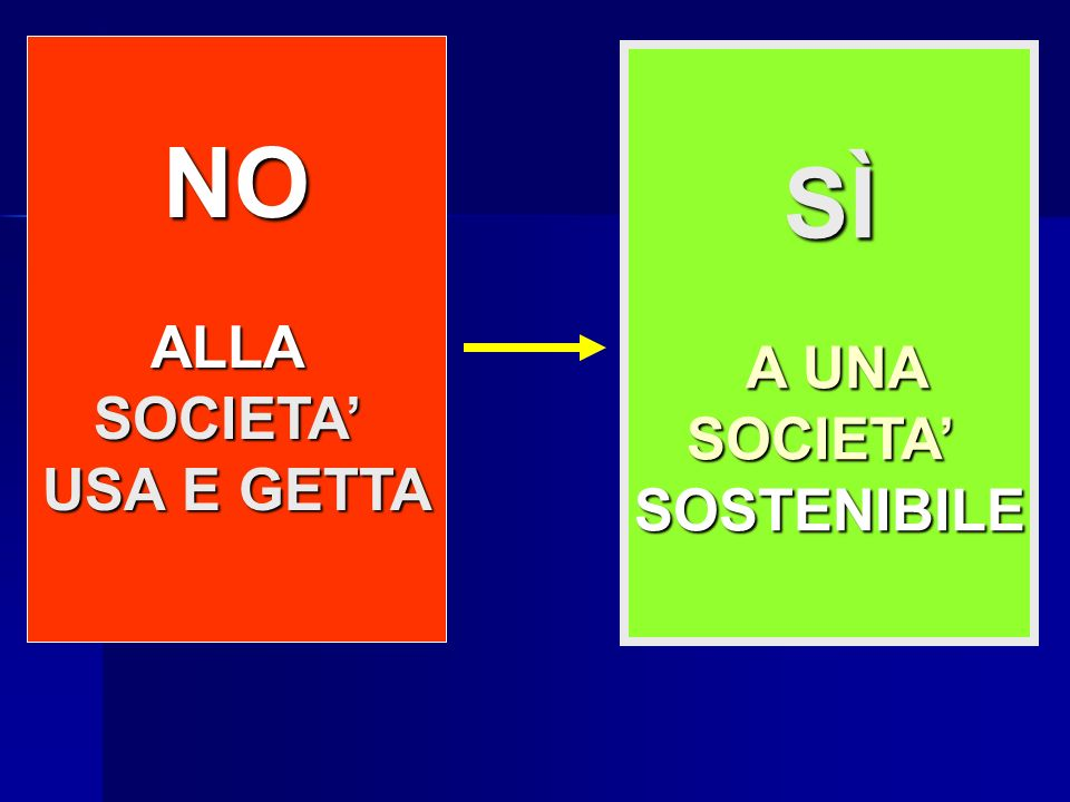 NO to INCINERATORS NO to LANDFILLS SÌ A UNA A UNASOCIETASOSTENIBILE NO ALLASOCIETA USA E GETTA