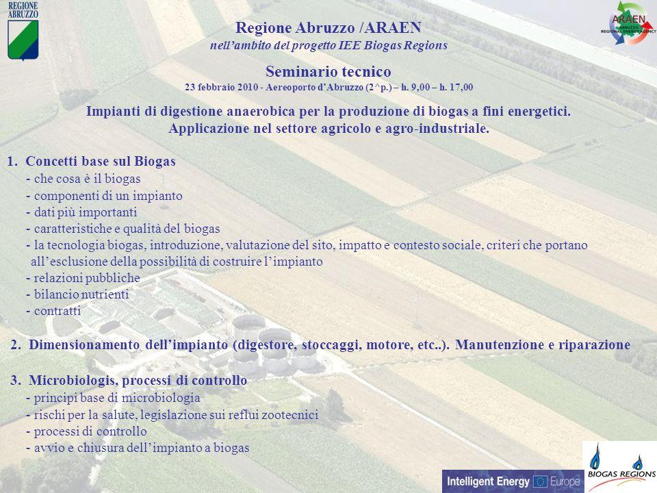 1. Concetti base sul Biogas - che cosa è il biogas - componenti di un impianto - dati più importanti - caratteristiche e qualità del biogas - la tecno