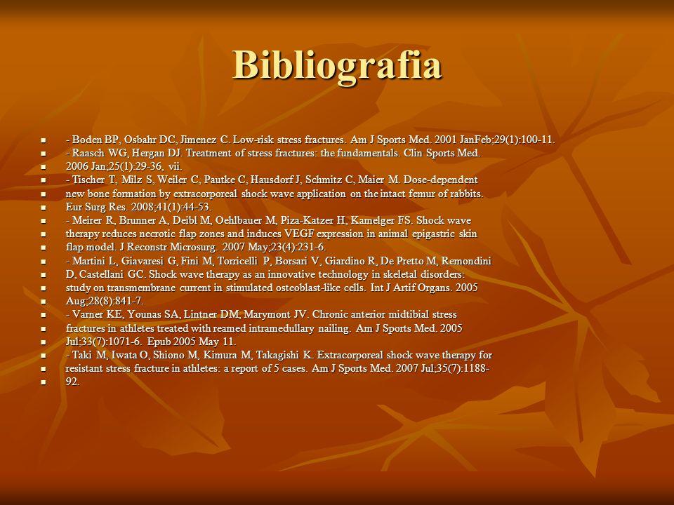 Bibliografia - Boden BP, Osbahr DC, Jimenez C.Low-risk stress fractures.