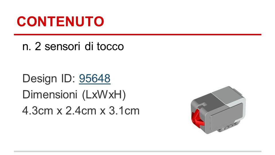 CONTENUTO n. 2 sensori di tocco Design ID: 9564895648 Dimensioni (LxWxH) 4.3cm x 2.4cm x 3.1cm