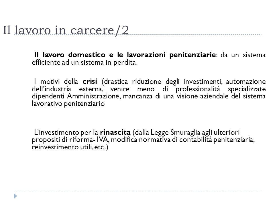 Legislazione in materia di Attività dei lavoratori detenuti Legge 22 giugno 2000 n.