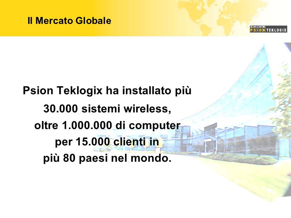 Psion Teklogix ha installato più 30.000 sistemi wireless, oltre 1.000.000 di computer per 15.000 clienti in più 80 paesi nel mondo. Il Mercato Globale