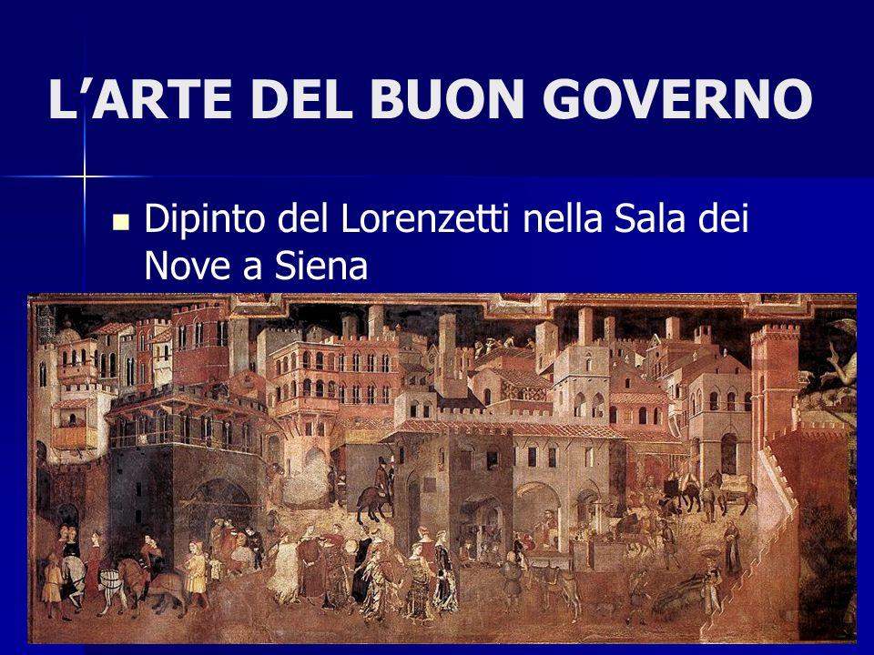 LARTE DEL BUON GOVERNO Dipinto del Lorenzetti nella Sala dei Nove a Siena