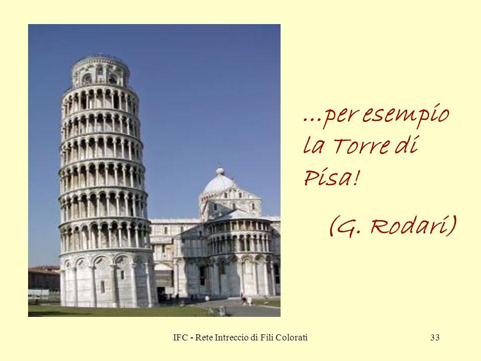 IFC - Rete Intreccio di Fili Colorati33 …per esempio la Torre di Pisa! (G. Rodari)
