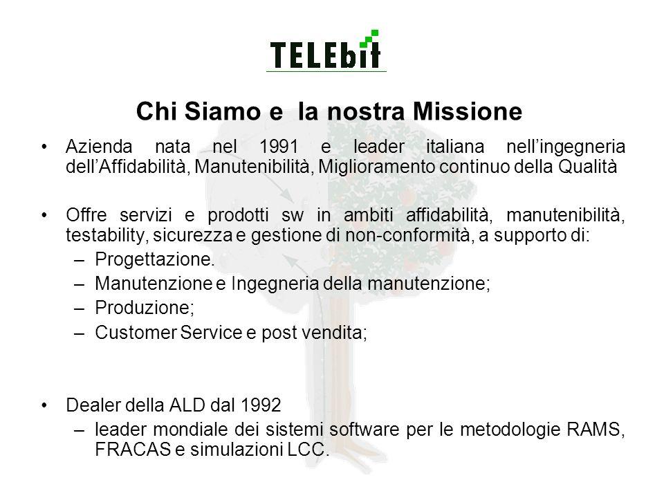 Chi Siamo e la nostra Missione Azienda nata nel 1991 e leader italiana nellingegneria dellAffidabilità, Manutenibilità, Miglioramento continuo della Q