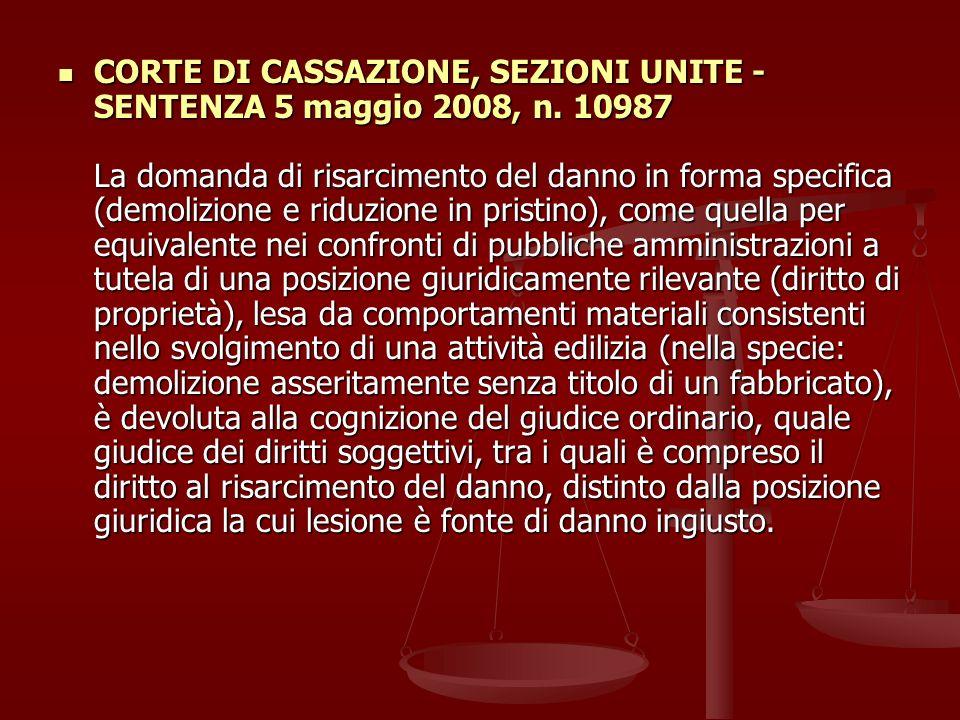 CORTE DI CASSAZIONE, SEZIONI UNITE - SENTENZA 5 maggio 2008, n.