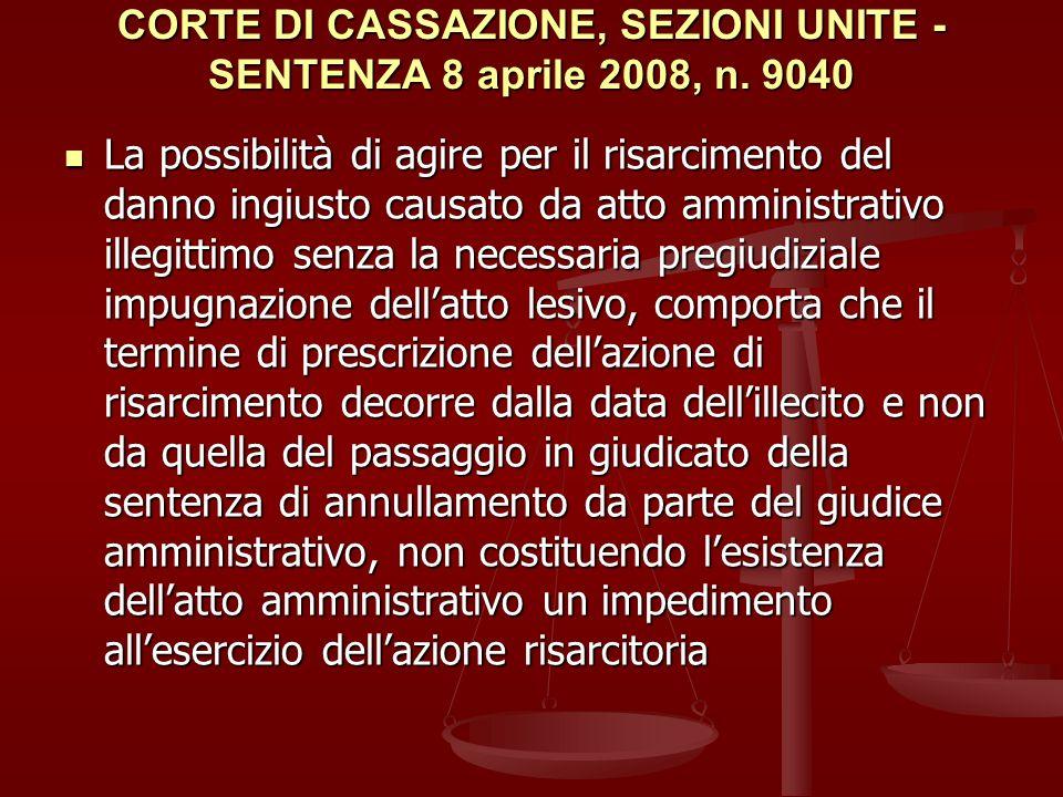 CORTE DI CASSAZIONE, SEZIONI UNITE - SENTENZA 8 aprile 2008, n.