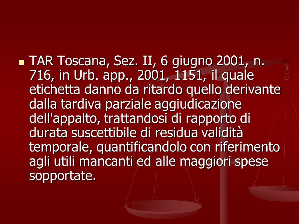 TAR Toscana, Sez.II, 6 giugno 2001, n. 716, in Urb.