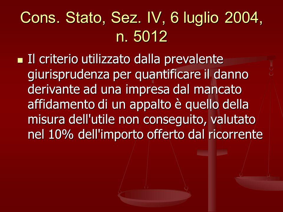 Cons.Stato, Sez. IV, 6 luglio 2004, n.