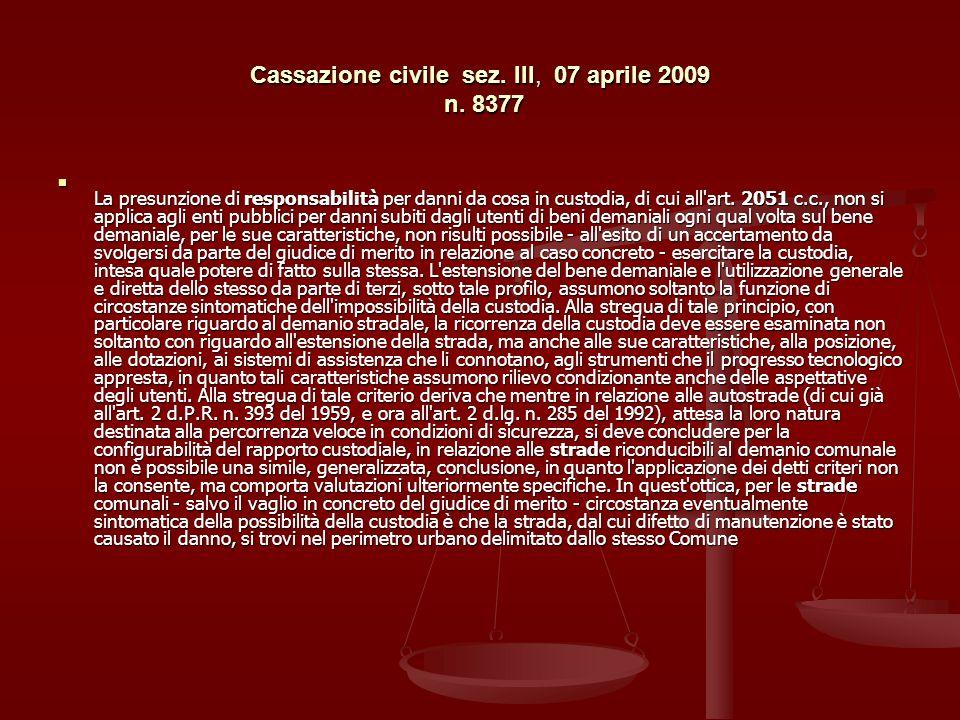 Cassazione civile sez.III, 07 aprile 2009 n.