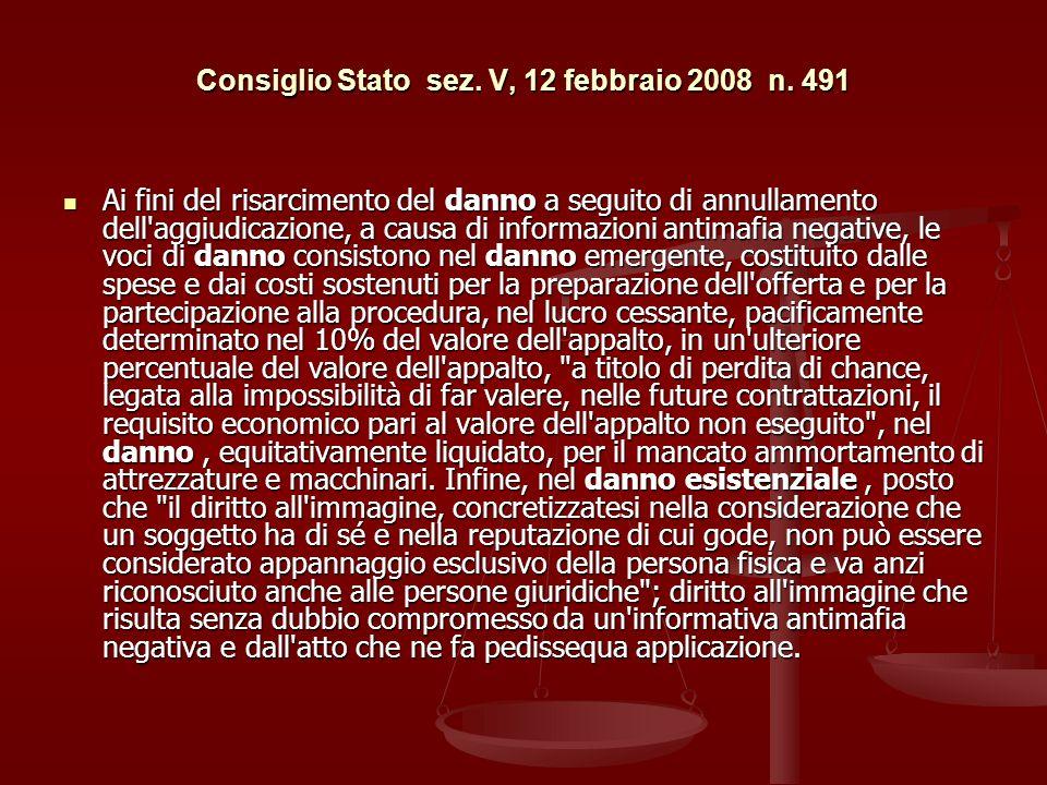 Consiglio Stato sez.V, 12 febbraio 2008 n.