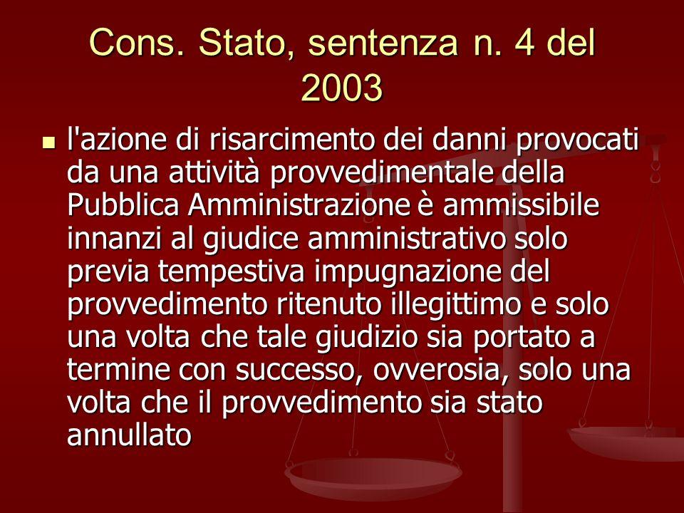 Cons.Stato, sentenza n.