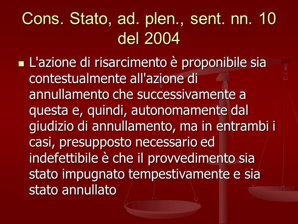 Cons.Stato, ad. plen., sent. nn.