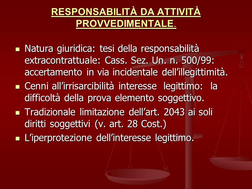 LA RISARCIBILITÀ DEGLI INTERESSI LEGITTIMI: Valorizzazione dellart.