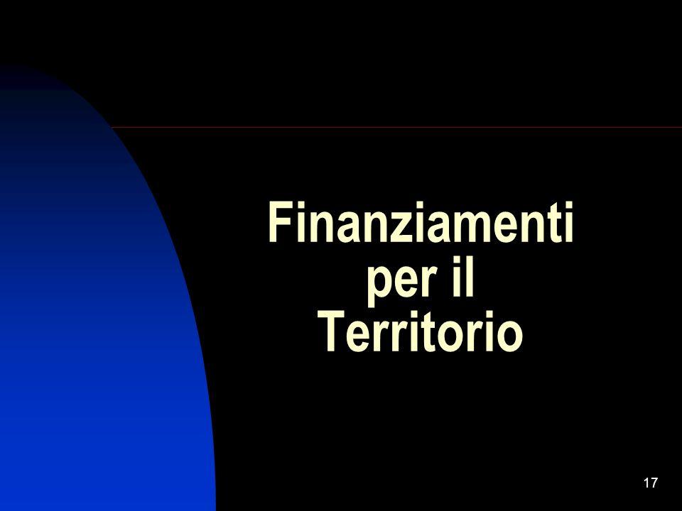 17 Finanziamenti per il Territorio