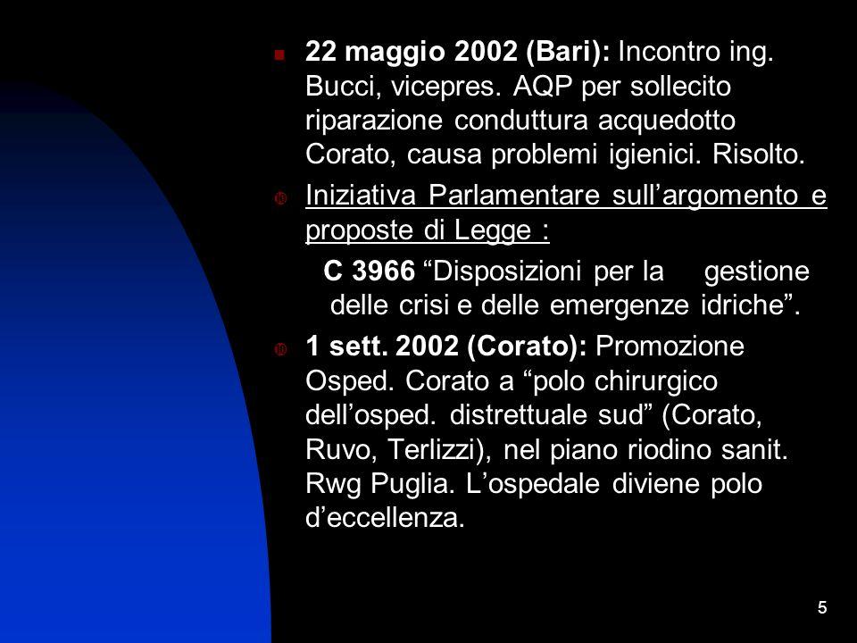 5 22 maggio 2002 (Bari): Incontro ing.Bucci, vicepres.