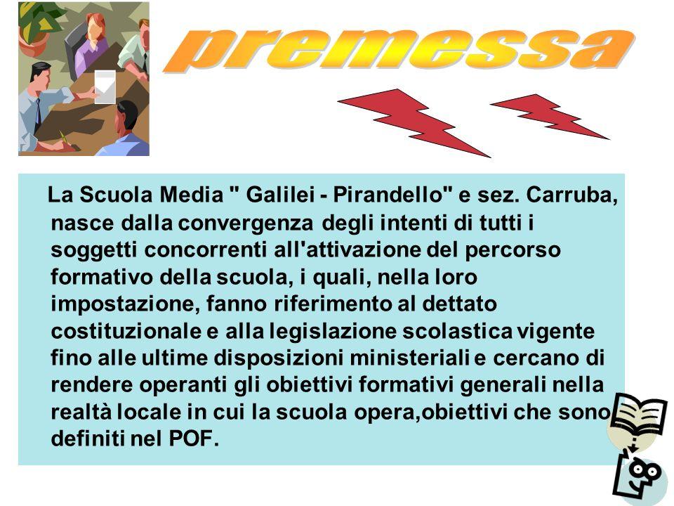La Scuola Media Galilei - Pirandello e sez.