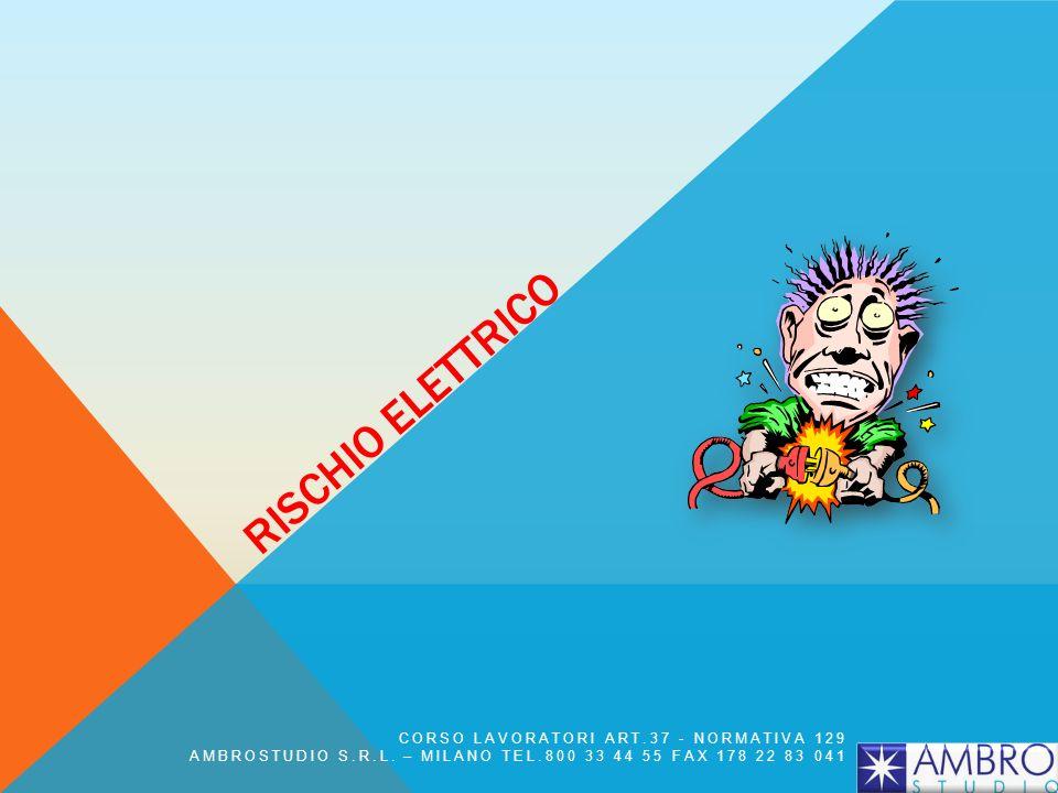 RISCHIO ELETTRICO CORSO LAVORATORI ART.37 - NORMATIVA 129 AMBROSTUDIO S.R.L. – MILANO TEL.800 33 44 55 FAX 178 22 83 041