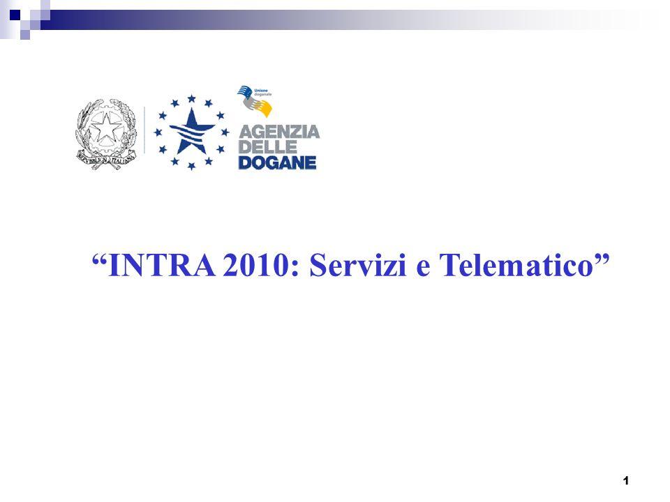 1 INTRA 2010: Servizi e Telematico
