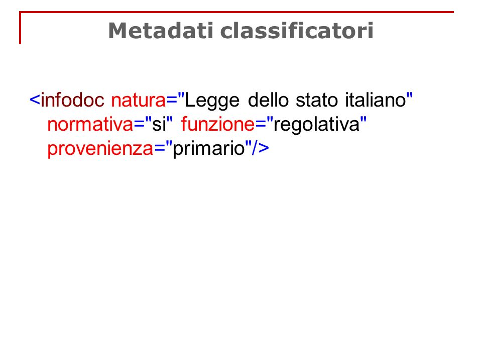 Metadati classificatori