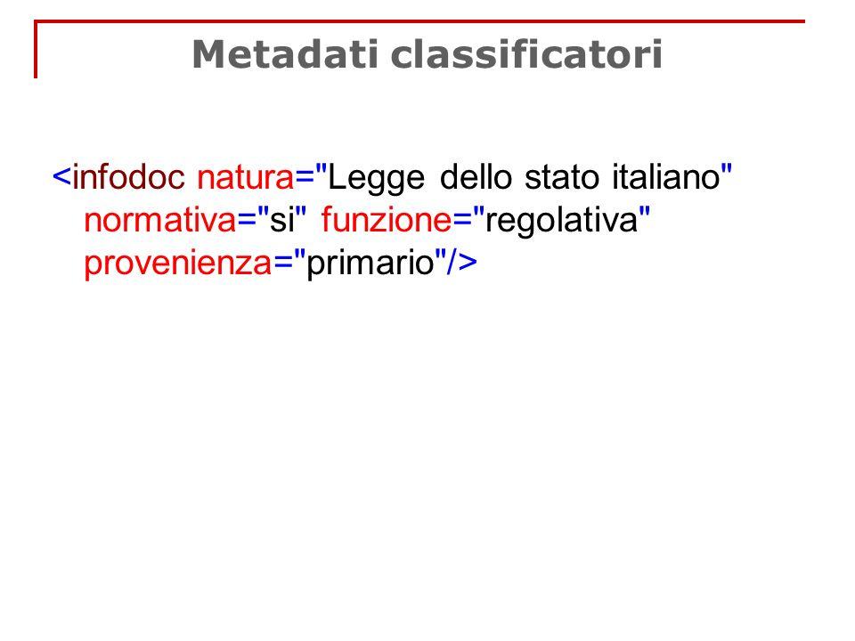 Metadati classificatori
